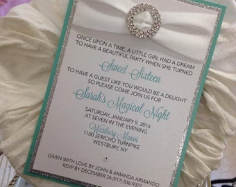 Tiffany Invitation Tiffany Sweet 16 Tiffany Bridal Shower Tiffany Baby Shower Invitation Tiffany Theme Tiffany Birthday Invitation