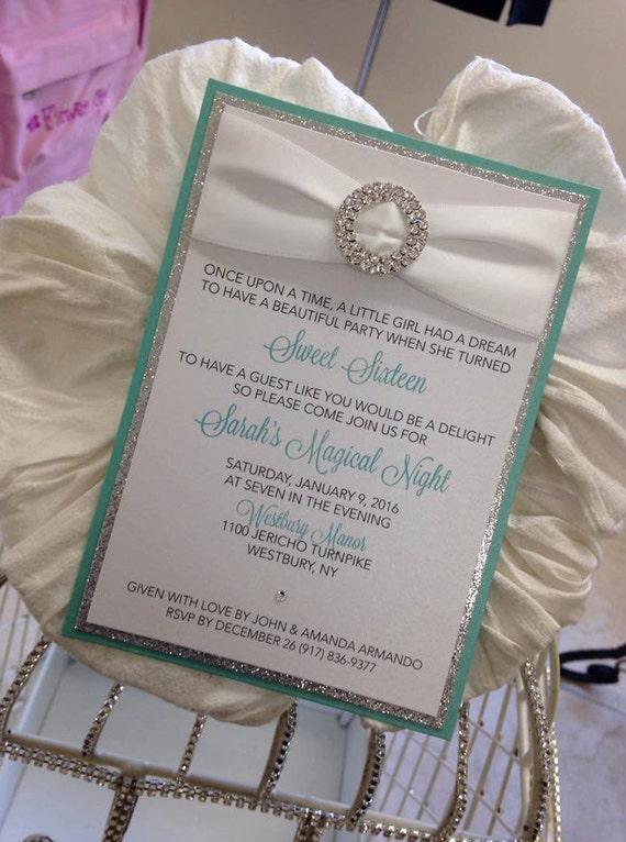 Tiffany Invitation Tiffany Sweet 16 Tiffany Bridal Shower Tiffany