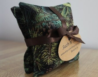 Pine Cone fabric balsam fir filled pillow sachets