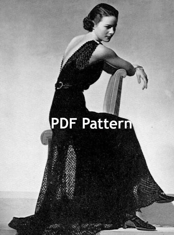 Knitting Pattern Evening Jacket : Wedding Evening Gown Knit Pattern Evening Jacket Crochet