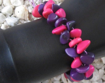 TAGUA bracelet vegetable Ivory from Peru  Amazon Forest eco Jewelry
