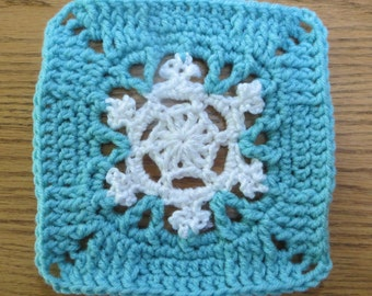 Pattern Frozen Elsa's Snowflake Granny Square. Can be made into any size blanket for child or baby. ****Pattern Only****