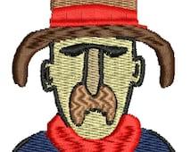 Cowboy Embroidery Design