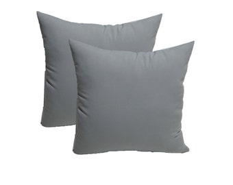 """SET OF 2 - 20"""" ~ Solid Dove Grey ~ Feather and Down Decorative Throw Pillows"""