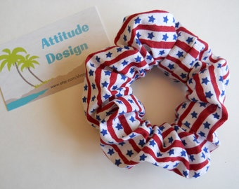 Stars and Stripes Scrunchie / Patriotic Hair Accessory