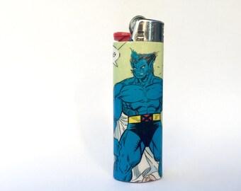 Beast X-Men Comic Book Custom Bic Lighter