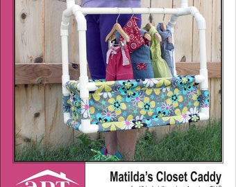 Pixie Faire AptOne8 Matilda's Closet Caddy PVC Pattern for 18 inch American Girl Dolls - PDF
