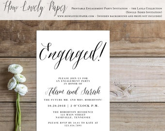 Printable Engagement Party Invitation - the Layla Collection