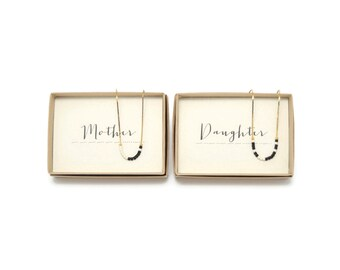 MOTHER & DAUGHTER || Morse Code Necklace Set, Mother Daughter Necklace, Mother Daughter Jewelry, Mother Gift, Daughter Gift, Birthday Gift