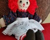 RESERVED FOR JACQUELYNE - Raggedy Ann Handmade 10 Inch Doll 2116