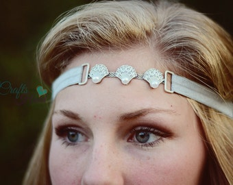 Seashell Headband - Beach Bridal Headband - Bridal Headband - Wedding Headband - Boho Headband - Seashell Beach Headband - Beach Headband