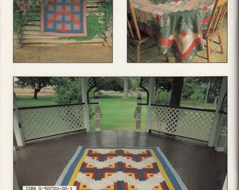 Log Cabin Quilt Pattern by Make a Quilt in a Day, Eleanor Burns, Baby Quilt, Bed Quilts, Pillows, Machine Quilting