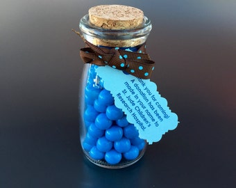 Personalized Chocolate-filled Bottle Favors