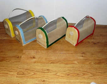 Reduced...Wooden Bug Box, Bug Home, Collecting/ Lady Bug, Firefly House, Choice of 4 colors