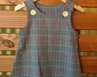 Girls Winter Pinafore Dress - size 4