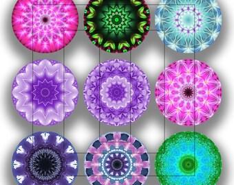 Mandalas 1 Inch Circles Digital Download Collage Sheet (092415)