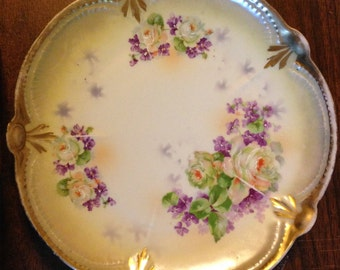 Vintage Hand Painted Plate Made in Bavaria