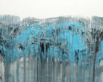 """Glaciers, 30x40"""" original abstract painting"""