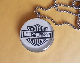 Harley Pendant~Harley Jewelry~Necklace~Harley Davidson Inspired~Biker~ Motorcycle Rider~0.99~shipping