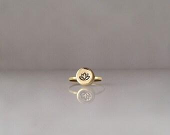 Lotus Flower, Lotus Flower Ring, Lotus Ring, Lotus Jewelry, Lotus Flower Jewelry, Yoga Gift, Lotus Charm, Lotus Flower Charm, r247br