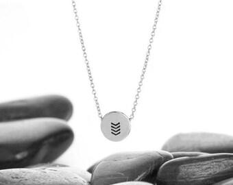 Chevron, Geometric Necklace, V Necklace, Chevron Jewelry, Geometric, Layering Necklace, Silver Chevron, Minimalist Necklace, n246sSS