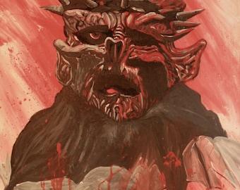 Print from original painting of Oderus Urungus of GWAR