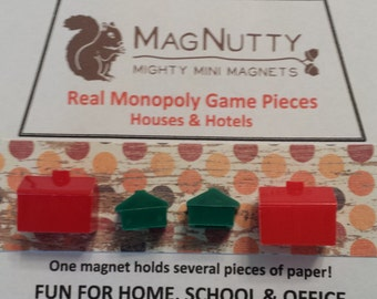 Classic Monopoly Hotels & Houses: Super-strong MagNutty Magnets