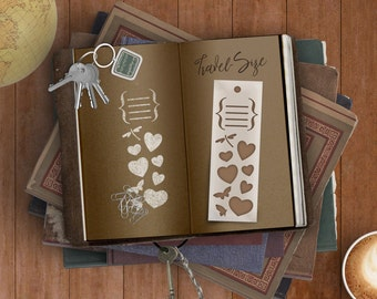 Dear Diary Bookmark Stencil -- For Quick Marks In Journals, Planners & Scrapbooks While Your Mind's On The Move