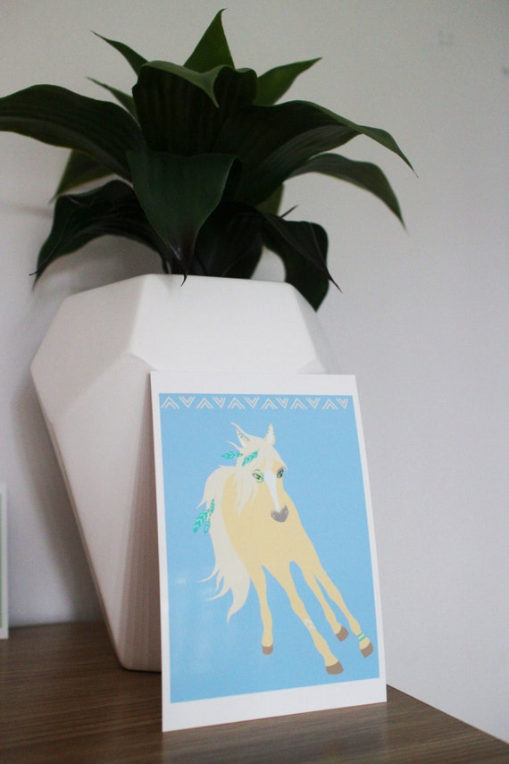Tribal Palomino Horse Print
