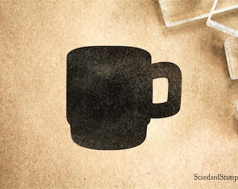 Coffee Mug Rubber Stamp - 2 x 2 inches