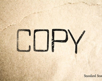 Copy Rubber Stamp - 3 x 1 inches
