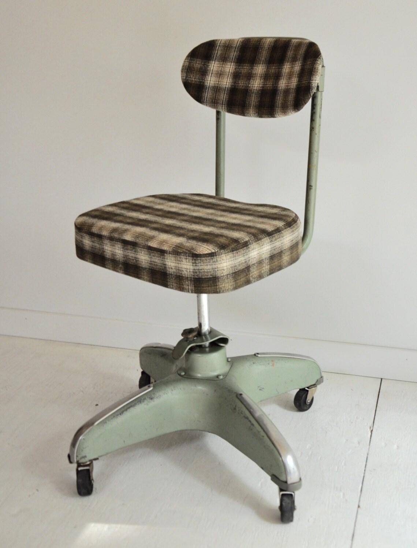 Mid Century Industrial Cosco Rolling Desk Chair