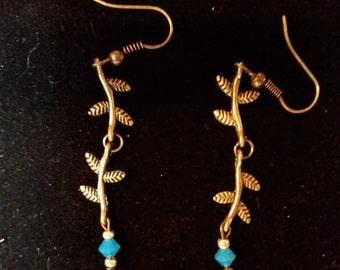 Earrings Brass Woodland Branch #F15b