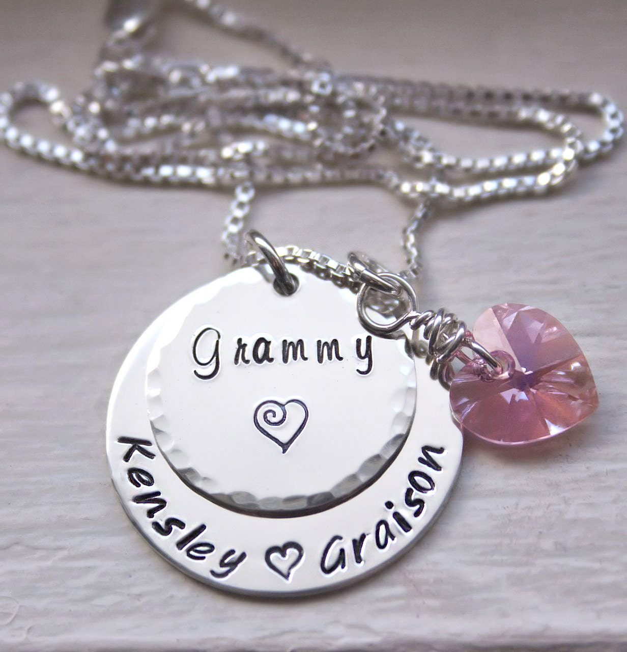 Custom grandmothers necklace grandma jewelry personalized for Grandmother jewelry you can add to