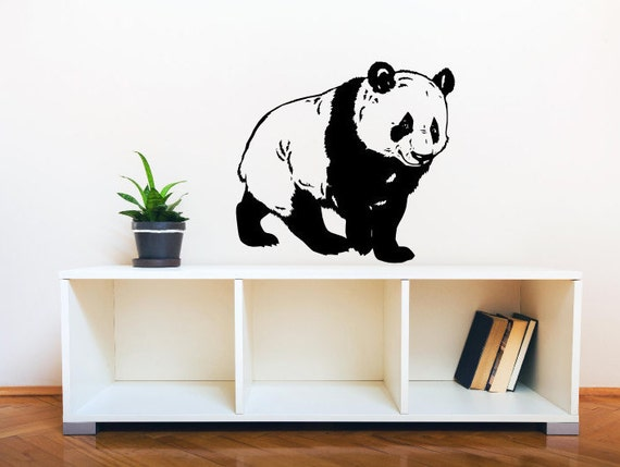 Items similar to panda wall decal nursery kid 39 s bedroom for Panda bear decor