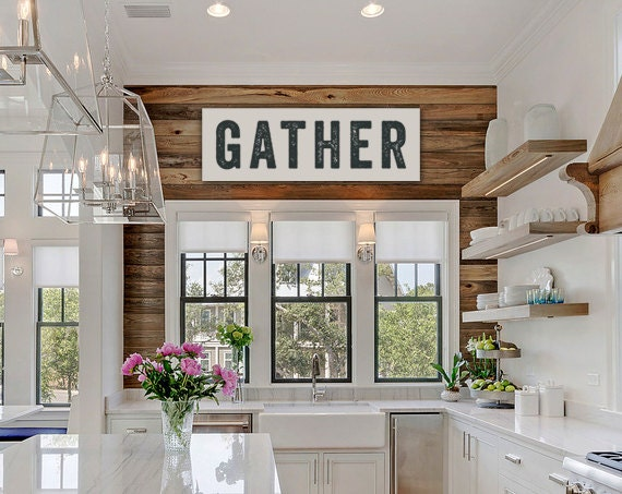 large canvas gather sign