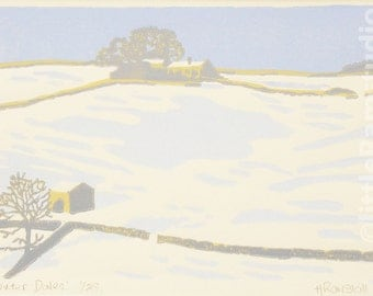 Winter Dales - Original Limited Edition Linocut Reduction Print