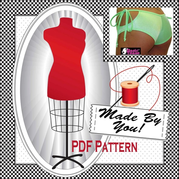 Sewing Pattern for loop tie shorts - Sewing Pattern comes in 5 different sizes sizes - You Tube video tutorial for step by step instructions