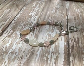 Rose Quartz with Labradorite Bracelet