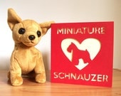Miniature Schnauzer Heart Card - Perfect for Any Schnauzer Lover!  Dog Lover Card, Choose Your Colours, Paper Cut Card