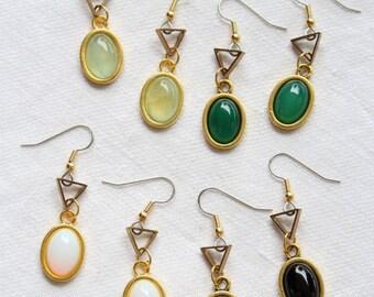 "Dangling earrings. ""Void Mini Gem Vision"""