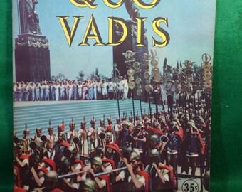 VIntage Quo Vadis Movie Premiere Souvenir Program Booklet - Original 1951 MGM Quo Vadis