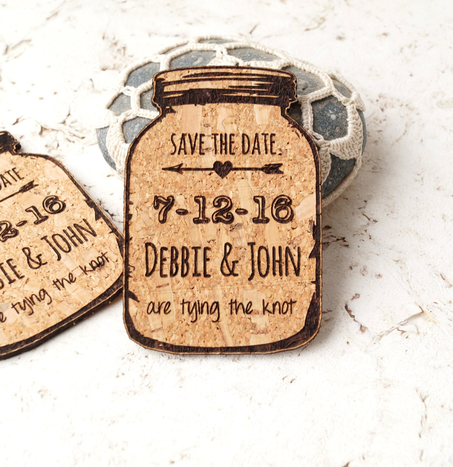 Wedding Save The Date Magnets: Save-the-date Magnets Rustic Wedding Save The Dates Cork