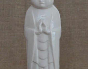 Jizo 27 cm high glazed porcelain