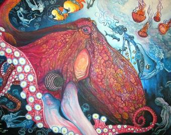 Water Nymphs - Underwater Art Print