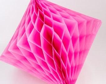 Hot Pink Honeycomb Diamond 12 inch