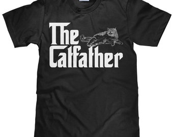 The Catfather - Funny Cat Lover T Shirt - Cat Father TShirt - Item 2102