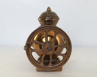 Unique Small Vintage Brass Savage Coffee Mill/Grinder