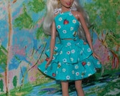 Lady Bug, Lady Bug. Handmade Barbie Clothes. Halter Top & Matching Ruffled Skirt by JanCo