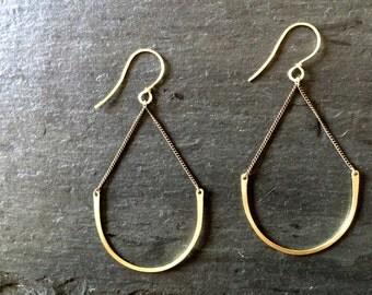 Hanging Arc Earrings